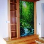 Thermodyn Infrarotheizung in einem Einfamilienhaus 60m² Wohnzimmer in Ingolstadt. Gelungene Sonderanfertigung mit der Integration in ein Möbelstück. Anmerkung: der Kunde hat das gesamte Haus ausschließlich auf sparsame Infrarotheizung umgestellt.